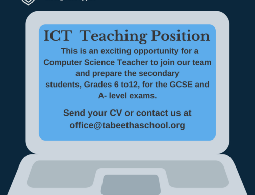 Job opportunity for a Secondary School ICT Teacher